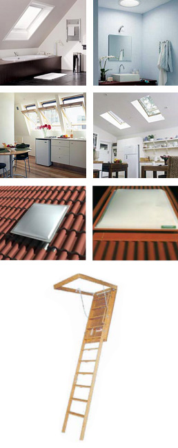 Range of various Skylight products
