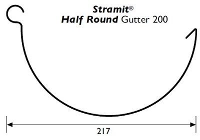 Stramit Half-Round 200 Gutter Specifications
