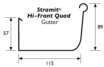 Stramit Hi-Quad Gutter Specifications