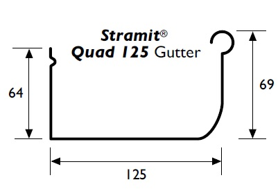 Stramit Quad 125 Gutter Specifications