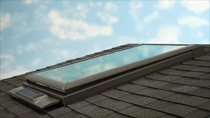Solar Power Skylight Installation