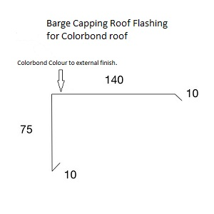 Barge Capping Roof Flashing