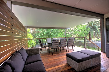 Versiclad Insulated Panel Roofing for Pergolas, patios and verandahs