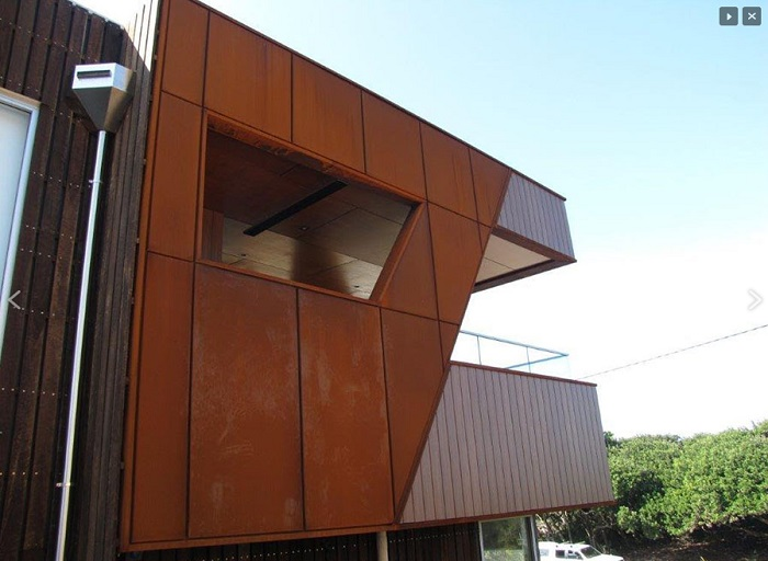 Corten Steel Panels For Cladding And Roofing Rusted