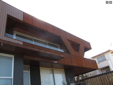 Corten Steel Panels for Cladding and Roofing - Rusted