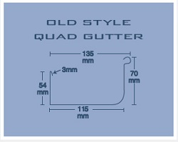 ACE Gutters Old Style Quad Gutter Specifications