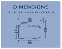 ACE Gutters Quad Gutter Specifications