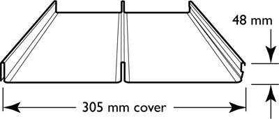Lysaght Longline 305 Roofing Profile