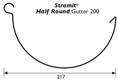 Stramit Half Round 200 Gutter Specifications
