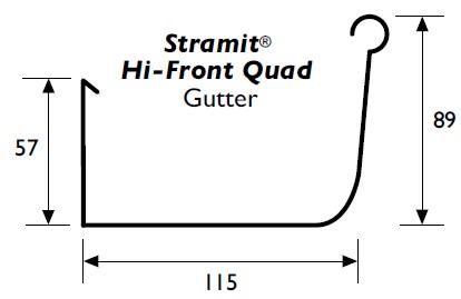 Stramit Hi Quad Gutter Specifications