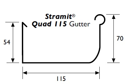 Stramit Quad 115 Gutter Specifications