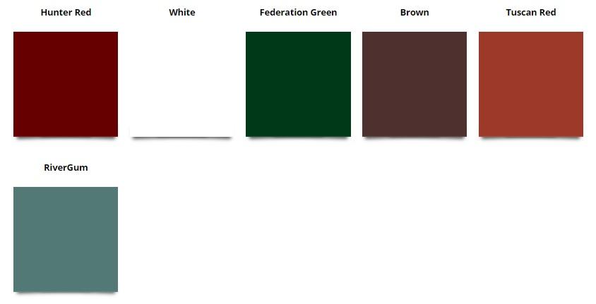 ACE Gutters Colour Chart
