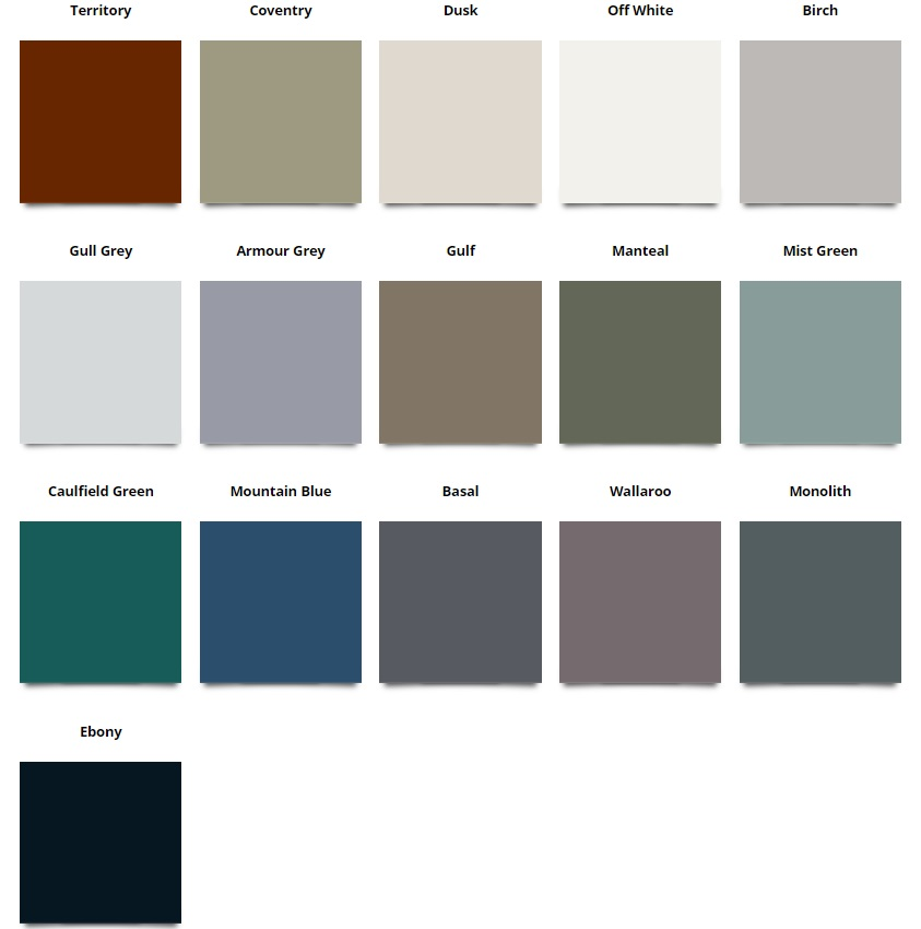ACE Gutters Colour Stylish Chart