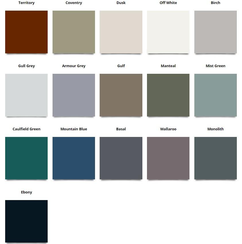 ACE Gutters Colour Stylish Chart