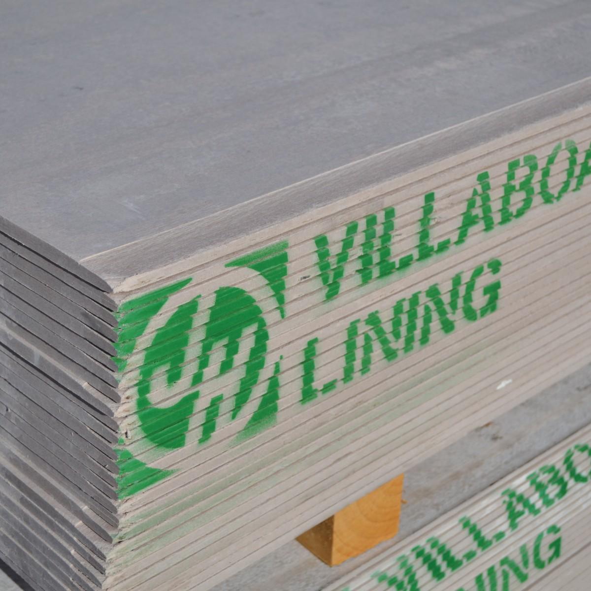 Villaboard lining sheets