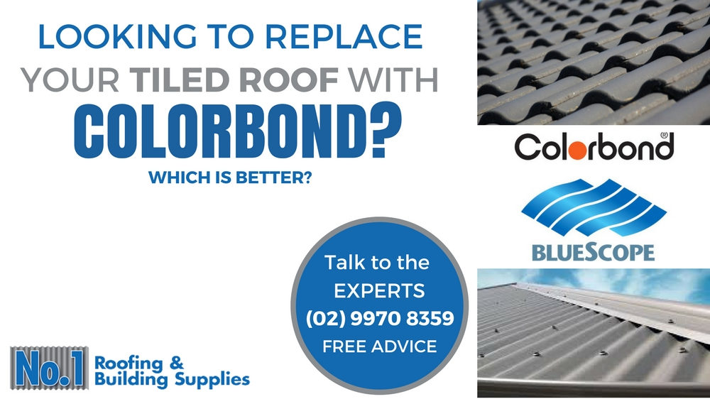 Replacing your concrete tiled roof with a Colorbond Metal Roof