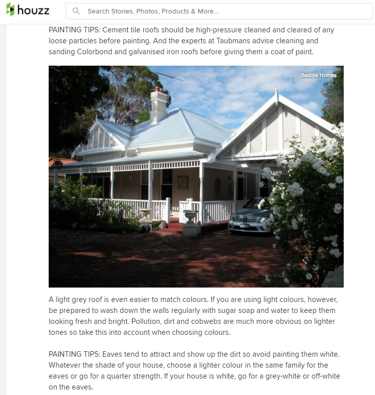 Paint Colour Tips for Colorbond Roofs - Houzz