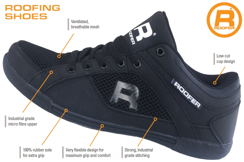 Non magnetic roofing shoe