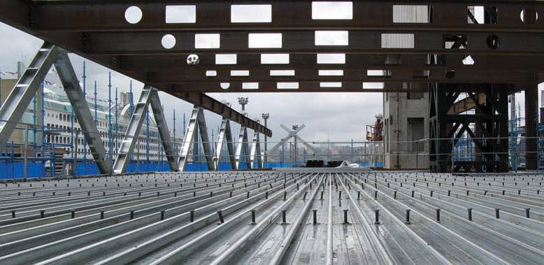 Commercial Project Using the Lysaght Bondek structural deck
