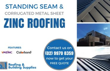 Zinc Roofing - Standing Seam, Corrugated Metal Sheet Roofing