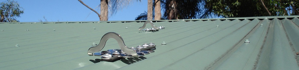 Metal roof anchor points FrogLink by SafetyLink