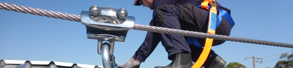 Working at Heights Horizontal lifeline frogline by SafetyLink