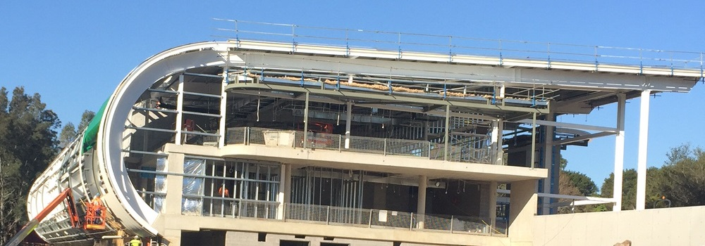 Curved Roofing sheets on on commercial project in Sydney