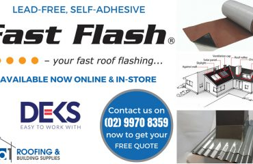 Fast Flash, the Lead-free, Self-adhesive roof flashing