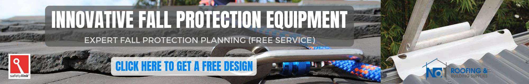 FREE DESIGN AND PLANNING SERVICE - FALL PROTECTION EQUIPMENT