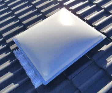 Acrylic Dome Skylight for Tile Roof