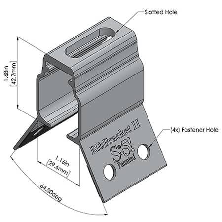 RibBracket 2 Dimensions