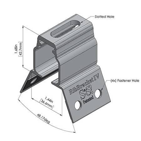 RibBracket 4 Dimensions