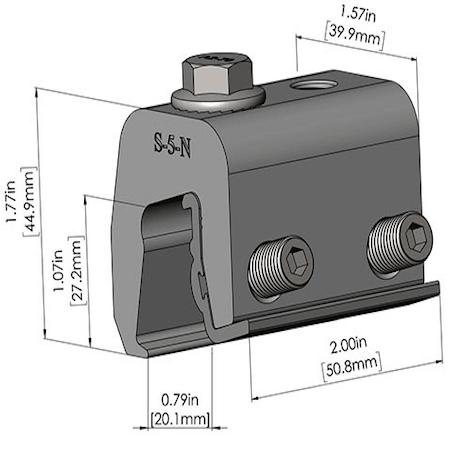 S-5-N Dimensions