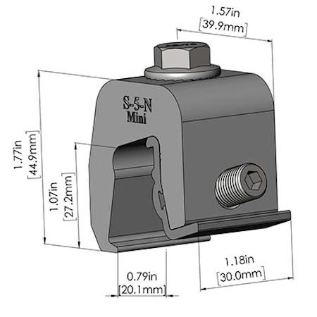 S-5-N Mini Dimensions