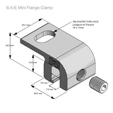 S-5-EF Mini Dimensions