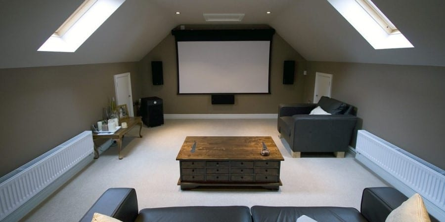 A dedicated home entertainment centre and cinema
