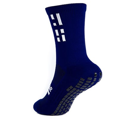 Navy Grip Star Crew Sock