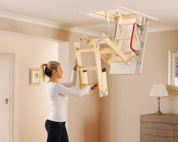 Think carefully about how you access your attic space