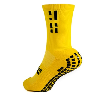 Yellow Grip Star Crew Sock