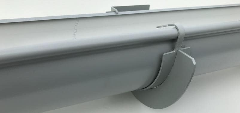 Half-Round Gutters are manufactured from 0.55mm bmt