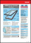 VCM Flat Roof Manual Skylight Product Data Sheet