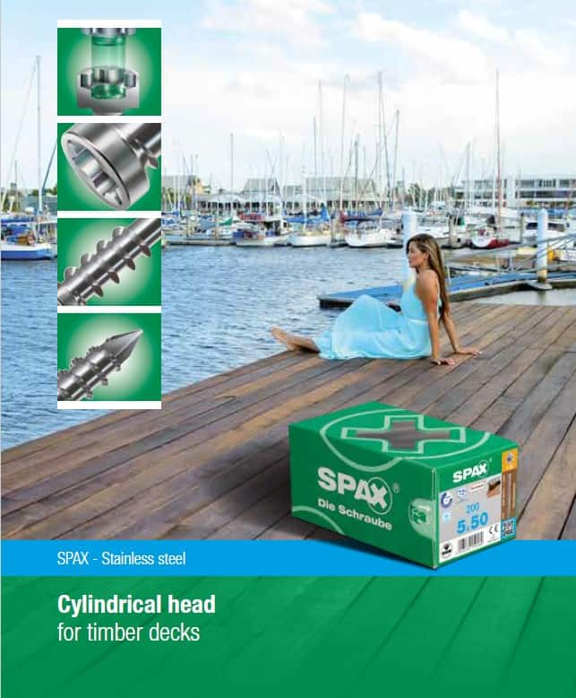 SPAX Stainless Steel Decking Screws