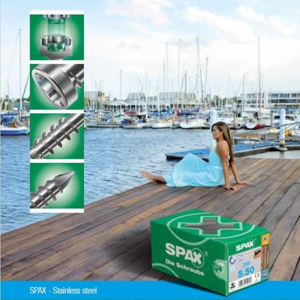 SPAX Stainless Steel Screws for Decking