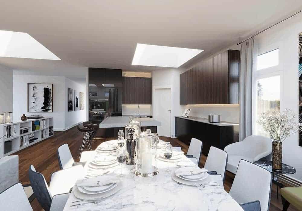 Kitchen After Velux Skylight