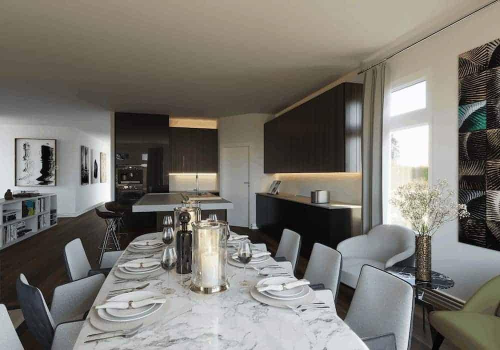 Kitchen Before Velux Skylight
