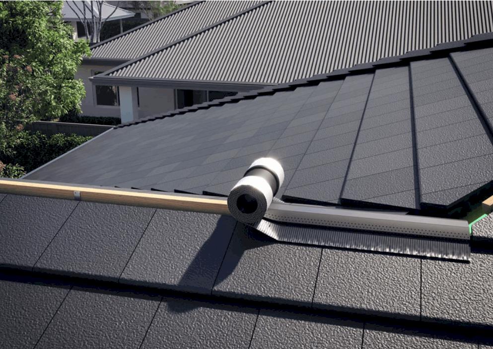 Installation details for Rapid Ridge roof ventilation