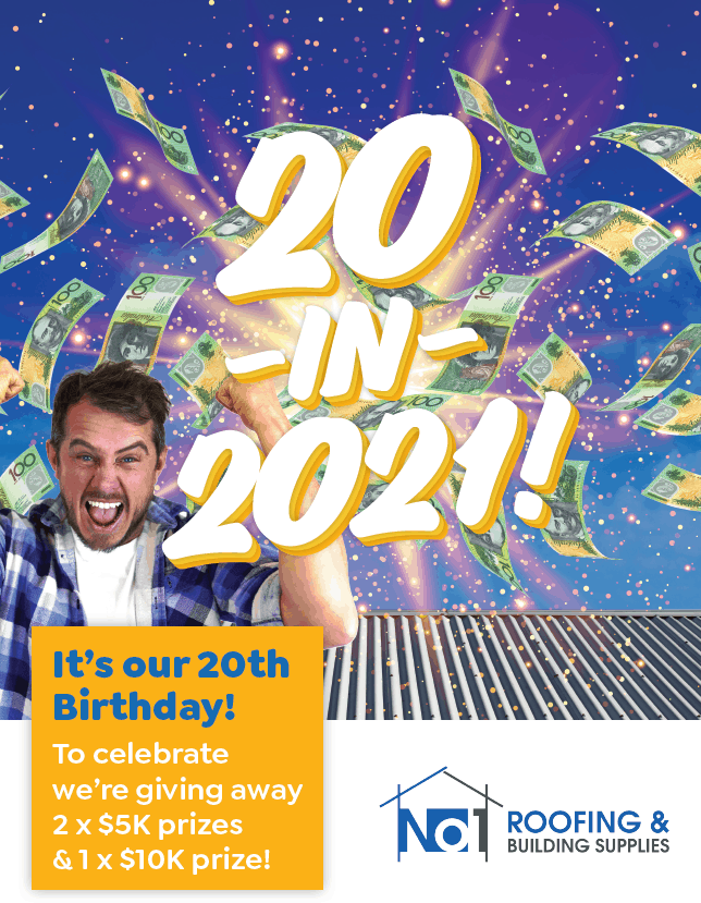 No1 Roofing Birthday 20 in 21 Cometition